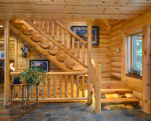 Log Stairs Home Design Ideas Pictures Remodel And Decor