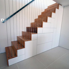 Contemporary Staircase by The Myers Touch