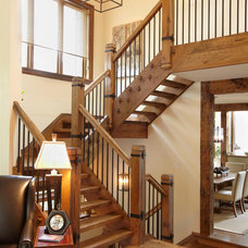 Rustic Staircase by Parkyn Design