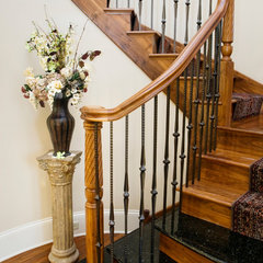 traditional staircase by Gander Builders