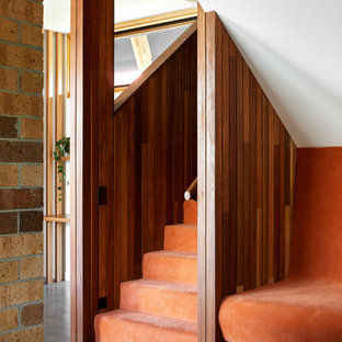 Photo of a midcentury staircase in Melbourne.