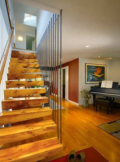 Contemporary Staircase by Meadowlark Design+Build