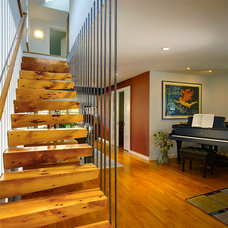 Contemporary Staircase by Meadowlark Builders