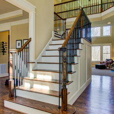 Traditional Staircase by Collins Design-Build, Inc.