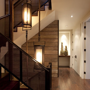 Inspiration for a contemporary wooden staircase remodel in San Francisco
