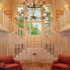 Rustic Staircase by Fine Lines Construction
