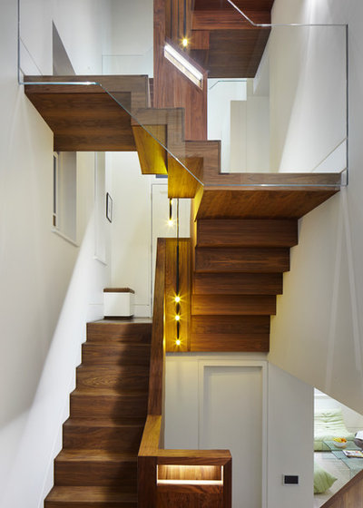 Contemporary Staircase by Fraher Architects