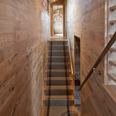 Rustic Staircase by Hutker Architects