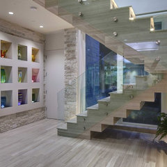 modern staircase by Phil Kean Designs