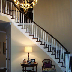traditional staircase by Elaine Morrison Interiors