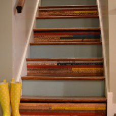 Eclectic Staircase by The Painted Home