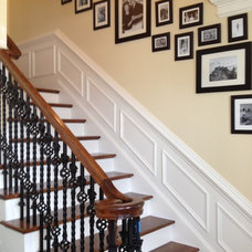 Traditional Staircase by CLK Builders Inc