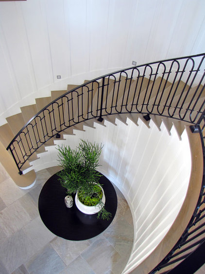 Beach Style Staircase by Tara Bussema - Neat Organization and Design