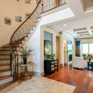 Inspiration for a modern staircase remodel in Raleigh