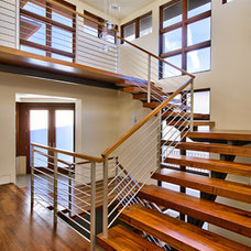 Contemporary Staircase by Tomaro Design Group