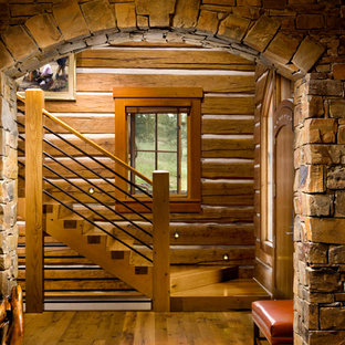 Example of a mountain style staircase design in Other