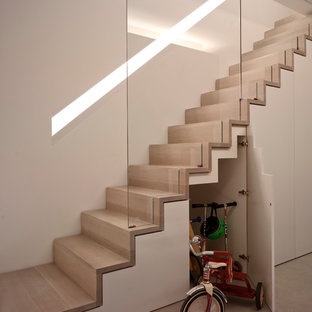 Inspiration For A Modern Wooden Staircase Remodel In Sus With Risers