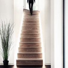 Contemporary Staircase by Spacial Images