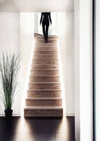 Contemporary Staircase by Martin Gardner Photography