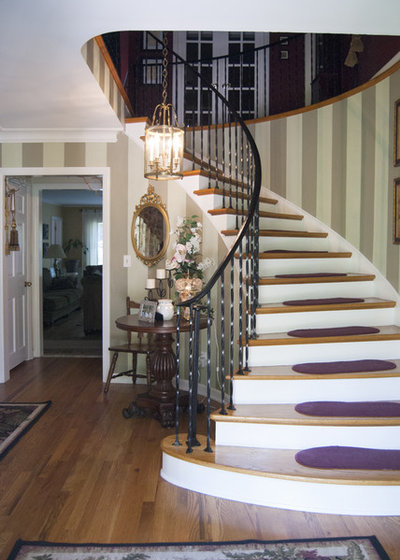 Traditional Staircase by Adrienne DeRosa