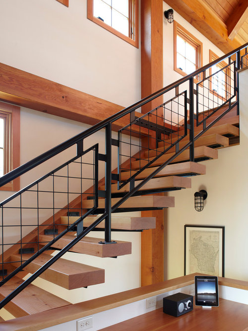 cheap metal stair railing ideas pictures remodel and decor. Black Bedroom Furniture Sets. Home Design Ideas