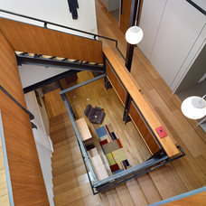 Modern Staircase by Boland Woodworking