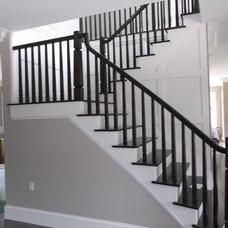 Traditional Staircase by Cromwell's Custom Carpentry