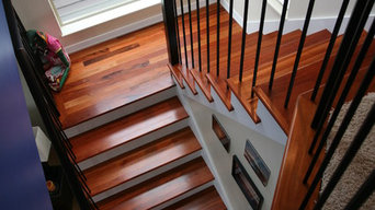Tigerwood treads and wrought iron