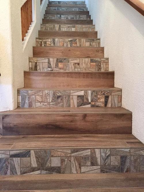 Rustic albuquerque staircase design ideas remodels photos for Rustic home albuquerque