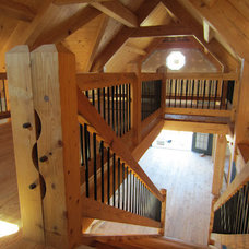 Modern Staircase by Heirloom Timber Framing