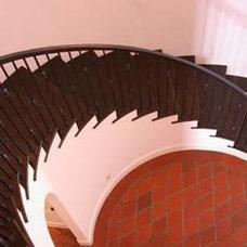 Mediterranean Staircase by Tobias Architecture