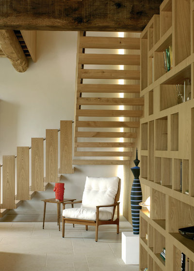 Farmhouse Staircase by Alhadeff Architects
