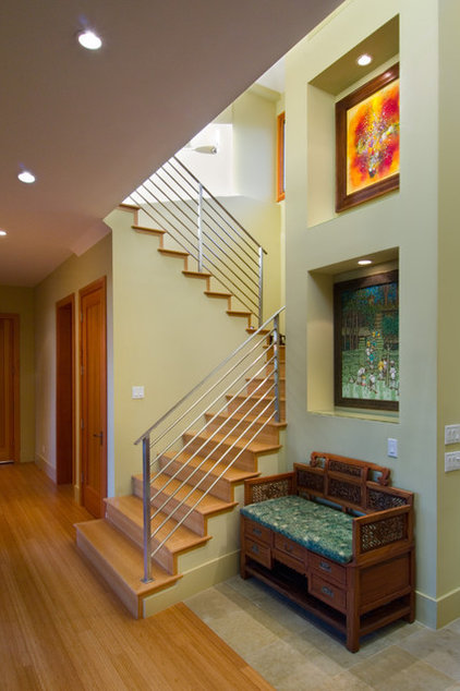 contemporary staircase by Simpson Design Group Architects