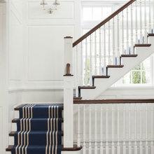 wood stair railings