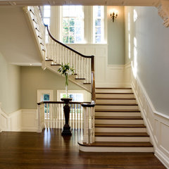 traditional staircase by Heintzman Sanborn Architecture~Interior Design