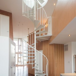 Example of a trendy staircase design in New York