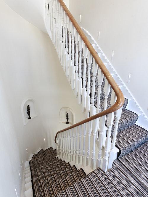 Striped Carpet Stairs Home Design Ideas Renovations Amp Photos