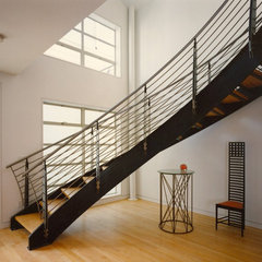 modern staircase by Mark Brand Architecture