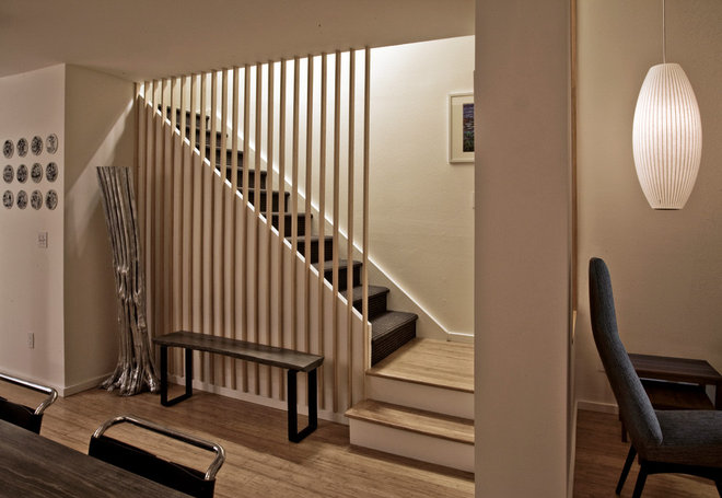 Farmhouse Staircase by Jon+Aud Design
