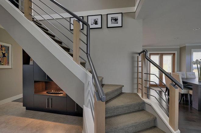 Contemporary Staircase by Creative Spaciz / SPACIZ Design Studio