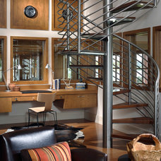 Contemporary Staircase by Charles Clayton Construction Inc