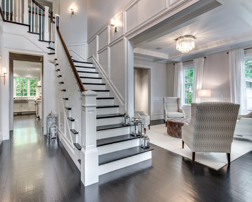 Living room stairs houzz for Interior design of living room with stairs