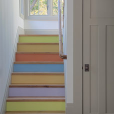 eclectic staircase by Polsky Perlstein Architects