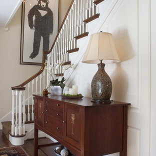 This is an example of a traditional staircase in Philadelphia.