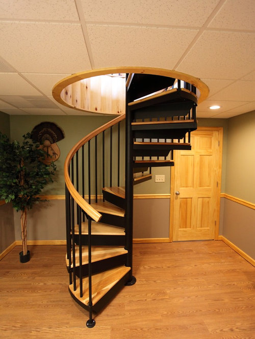 Staircase   Small Traditional Wooden Spiral Staircase Idea In Philadelphia