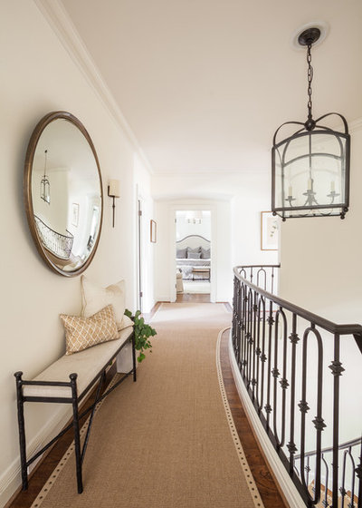 Transitional Staircase by Marie Flanigan Interiors