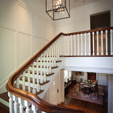 Traditional Staircase by FGY Architects