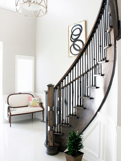 Foyer Stairs Review : Curved foyer staircase ideas pictures remodel and decor