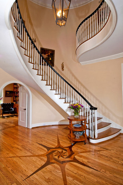 Traditional Staircase by Andrew Roby General Contractors