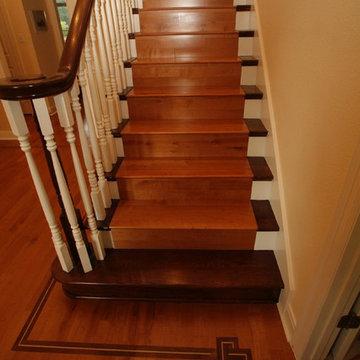 Traditional staircase, Austin, Texas
